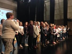 Les éléves de chant du conservatoire de musique de la Communauté d'Agglomération Cap Calaisis