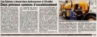Cap Calaisis a donné deux hydrocureuses à ACADEC