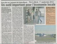 travaux à l'aéroport de Cap Calaisis