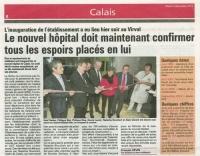 Inauguration du nouvel hopital de Calais