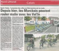 Les Vel'In dans les communes de Cap Calaisis