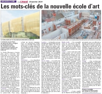 Construction de l'Ecole d'Art du