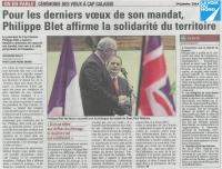 Voeux du Président de la Communauté d'Agglomération Cap Calaisis