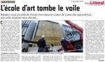 """Pose de la maille de """"Le CONCEPT, Nouvelle Ecole d'Art"""" de la Communauté d'Agglomération Cap Calaisis"""
