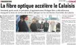 Fibre optique  de la Communauté d'Agglomération Cap Calaisis