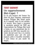 Ticket gagnant un rapprochement Blet Capet