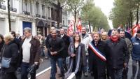 Manifestation en soutien des salariés de Calaire Chimie