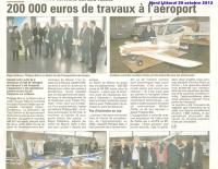 Inauguration des nouveaux locaux de l'aéroport de Cap Calaisis