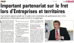Important partenariat sur le fret lors d'Entreprises et territoires