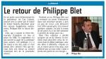 Le retour de Philippe Blet