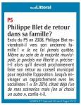 PHILIPPE BLET DE RETOUR DANS SA FAMILLE?