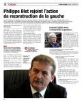 Philippe  Blet  rejoint  l'action de  reconstruction  de  la  gauche6 février 2021